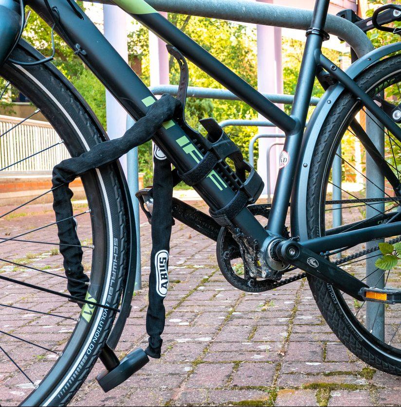 abgeschlossenes Fahrrad