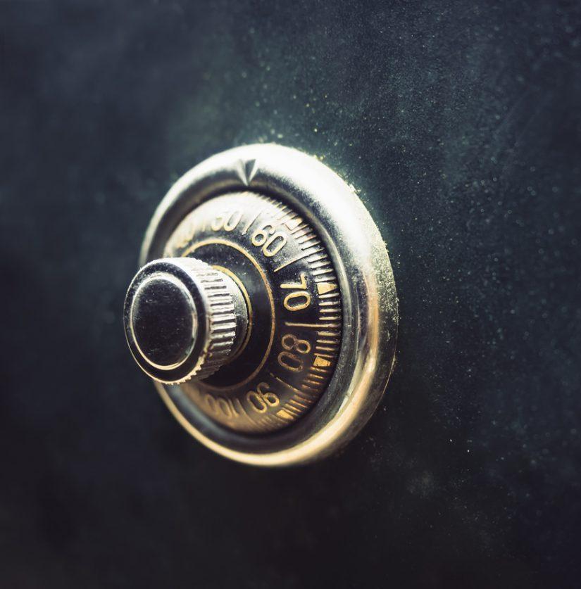Ein verschlossener Tresor